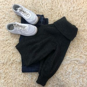 Off the shoulder sweater oversized h&m gray cozy